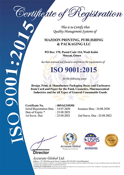 ISO Certified Printing Service